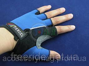 Велоперчатки безпалые Tiercel синие (XL), фото 2