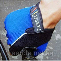 Велоперчатки безпалые Tiercel синие (XL), фото 3