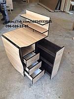 Стол для маникюра с карго в цвете дуб сонома + венге