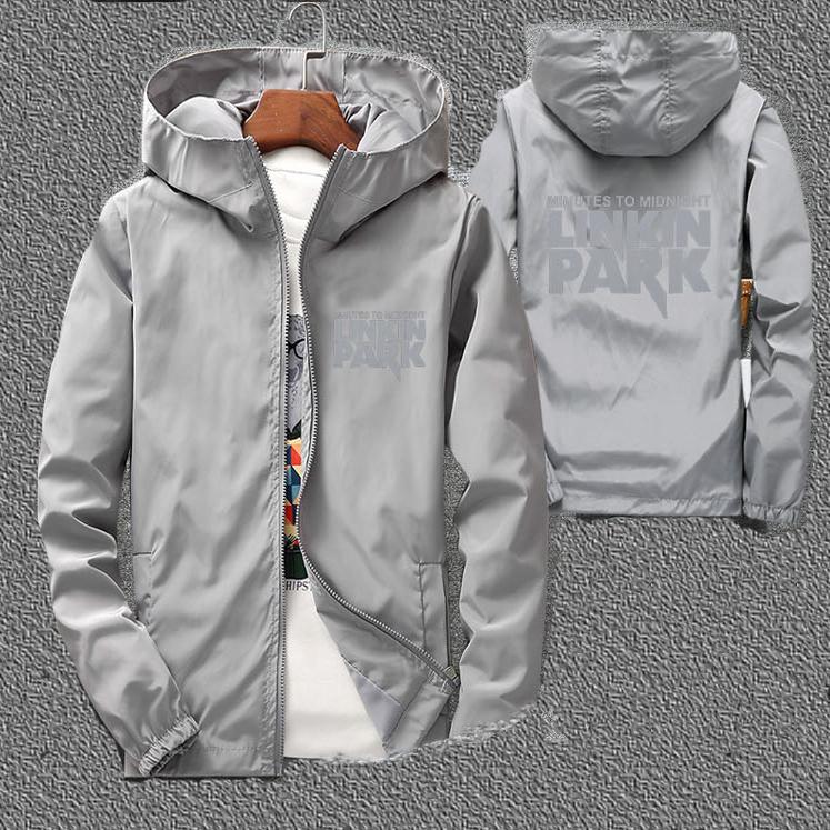 Мужская ветровка-куртка осенне-весенняя с капюшоном. Модель 7010.
