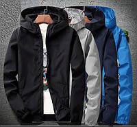 Мужская ветровка-куртка осенне-весенняя с капюшоном. Модель 7010., фото 2