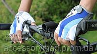 Велоперчатки беспалые Pearl Izumi - бело-сине-голубые (M)