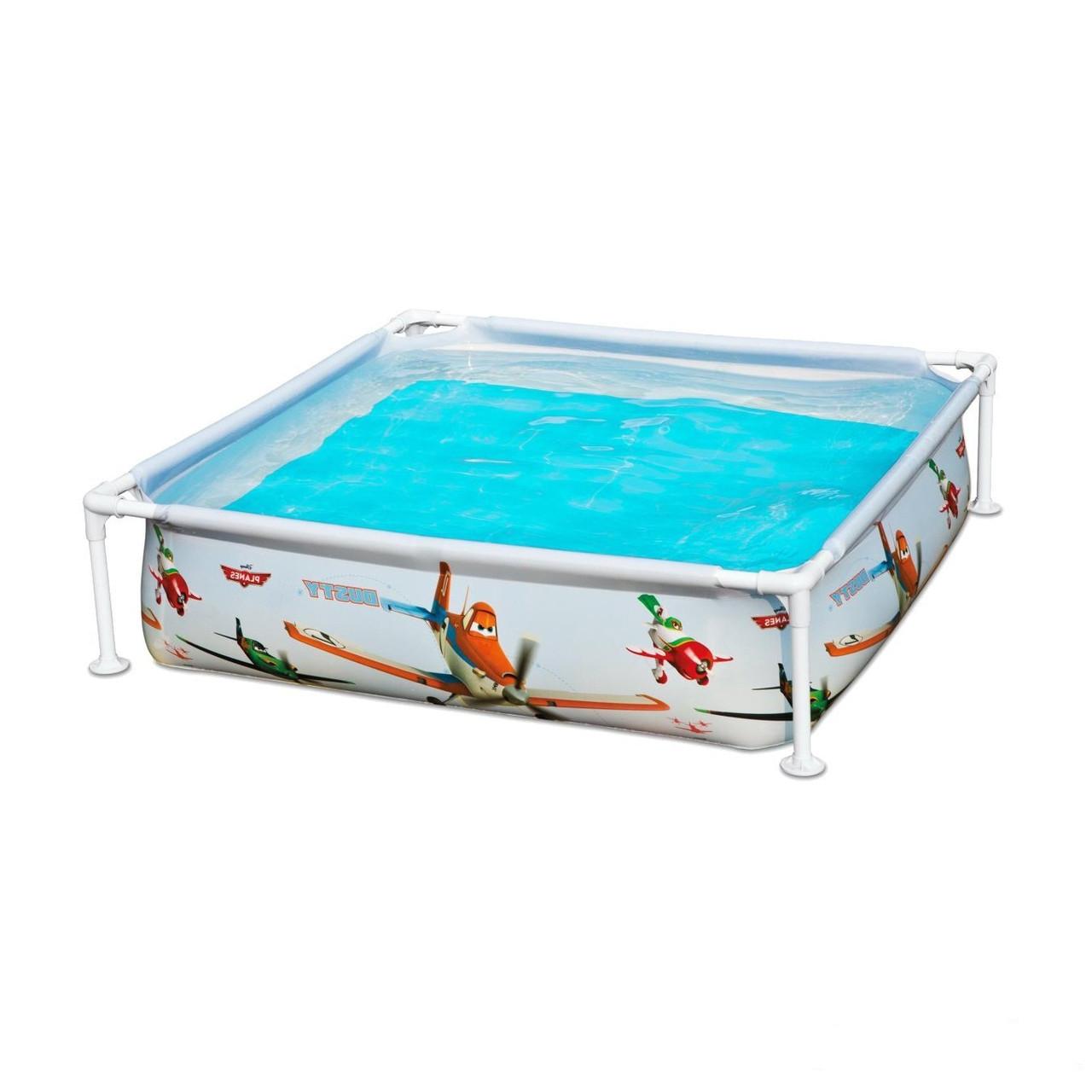Каркасный бассейн басейн  Intex 57174. 122х122х30 см Детский Small Frame Басейн квадратный