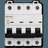 Автоматический выключатель Gunsan 4C 63А  4,5КА  400V