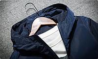 Мужская ветровка-куртка осенне-весенняя с капюшоном. Модель 7010., фото 3