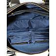 Кожаный мужской портфель Mk25 черный глянец, фото 7