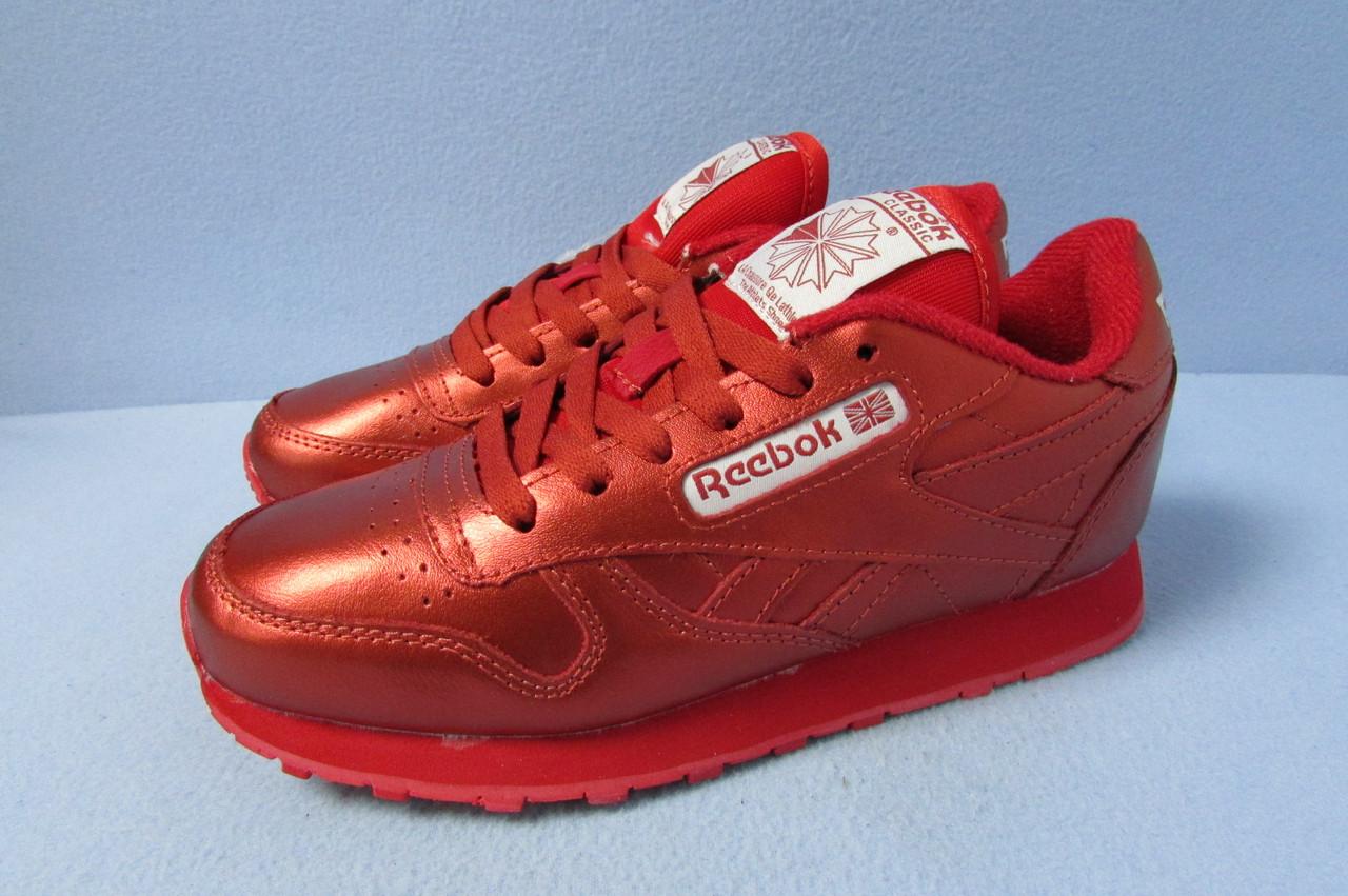 Кроссовки Reebok красные 837-708 натуральная кожа код 0740А - СПОРТ-СИТИ в  Северодонецке a4539e2d8f3
