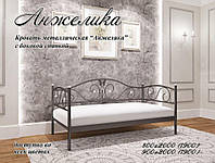 Кровать металлическая Анжелика мини с боковой спинкой