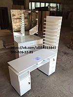 Маникюрный стол ''Professional'' с 9 полками для лаков и вытяжкой 179м3/ч