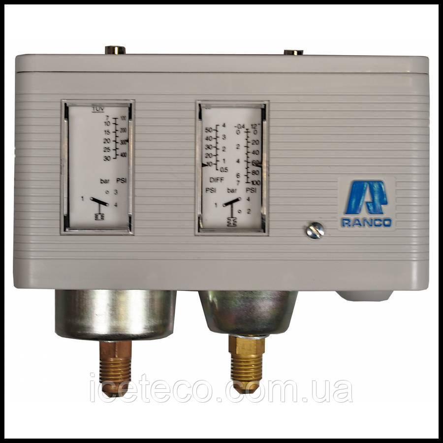 Реле давления двублочное LP/HP, автовозврат 017-Н4701 Ranco (Robertshaw)