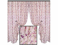 Комплект штор Прованс из водоотталкивающей ткани Provense Lilac, арт. MG-116003