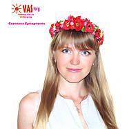 Венок украинский ободок с маками и другим декором в украинском стиле