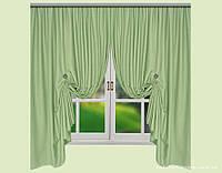 Комплект штор из Грубого Льна Yanina Ментоловый