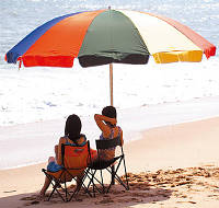 В продажу поступили пляжные зонты