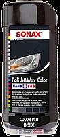 Цветной полироль с воском + карандаш (черный) SONAX Polish & Wax Color NanoPro 500 мл