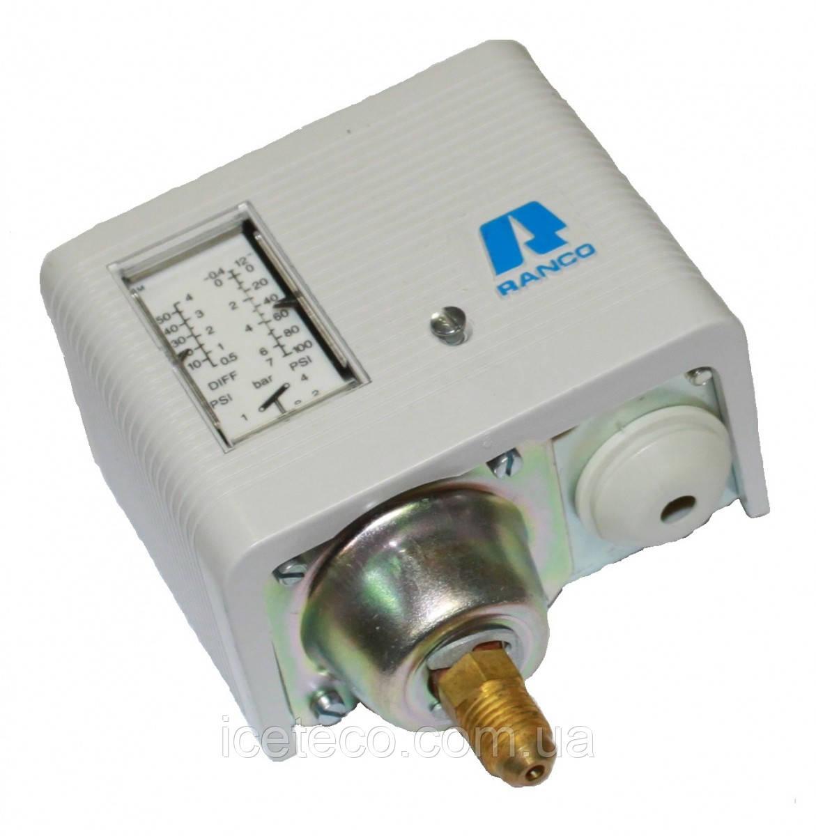 Одноблочное реле давления Ranco 016-H6705