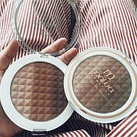 Трехцветная пудра для лица Malva Cosmetics Shimmer Star Pressed