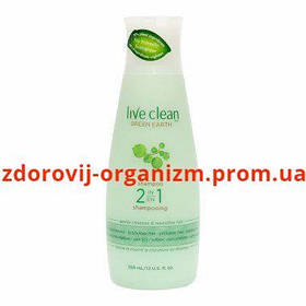 "Шампунь-бальзам для волос ""Зеленая Земля"" Live Clean Green Earth Moisturizing Shampoo-Conditioner"