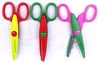 Ножницы 1605 длина 13см с фигурным лезвием, 3цвета уп12