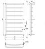Водяной полотенцесушитель Люкс 900x530/500