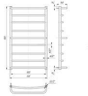 Водяной полотенцесушитель Люкс 900x530/500 , фото 1