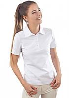 Белая футболка поло женская