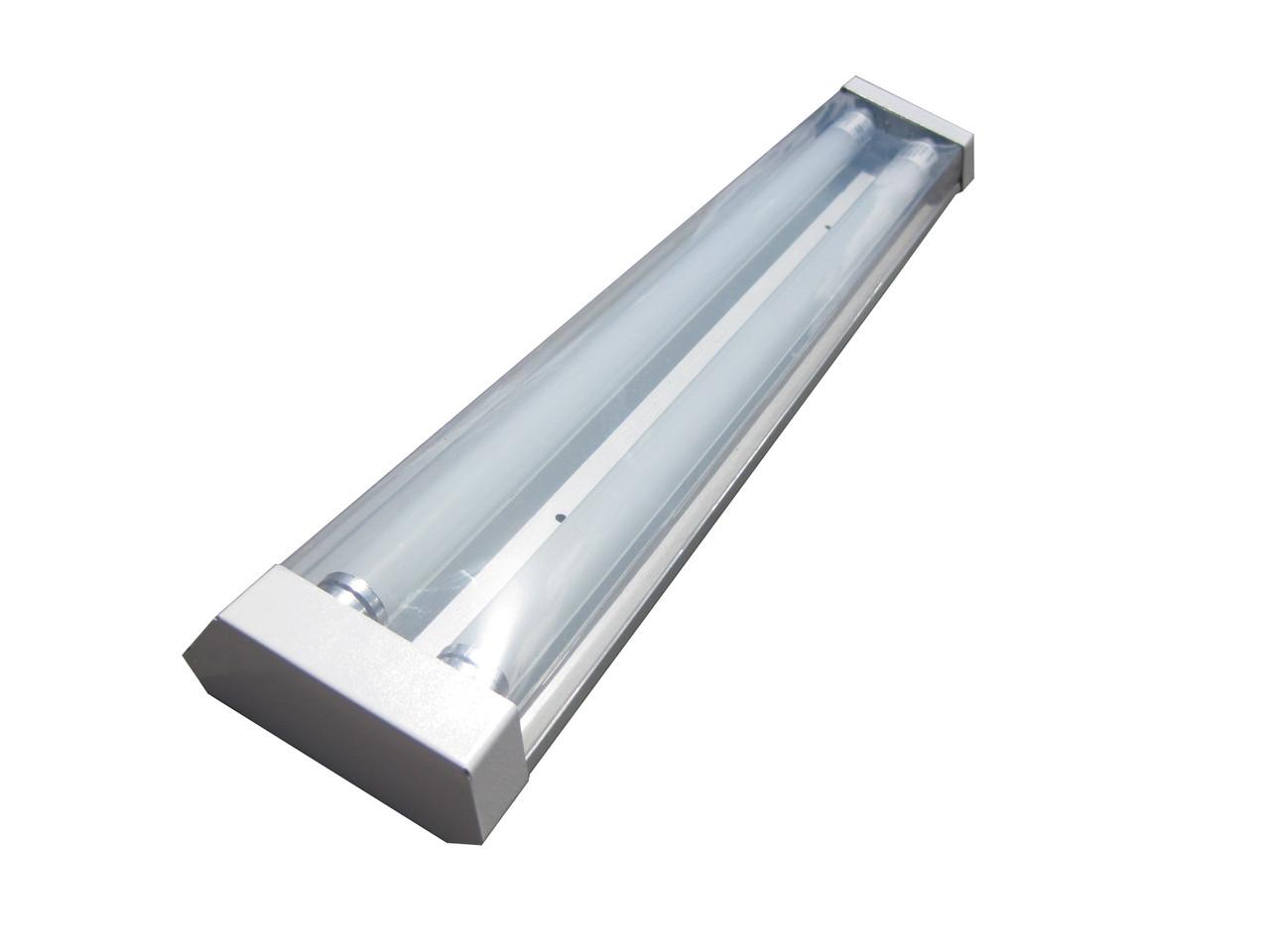 Светильник стекло премиум под LED лампу Т8 2*600мм