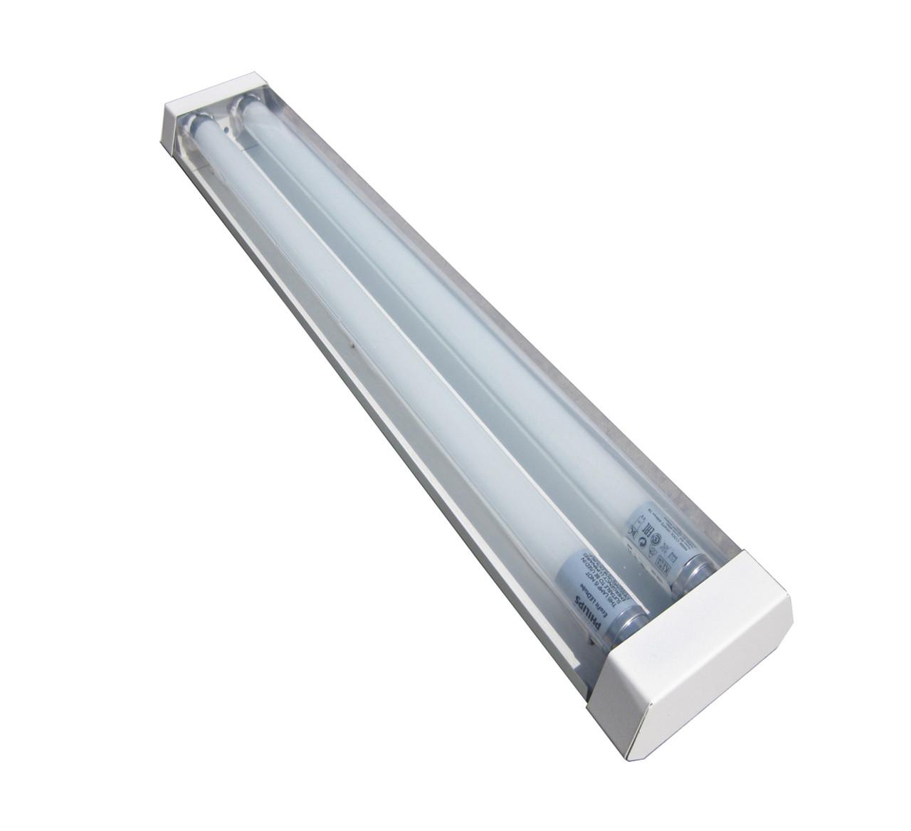 Светильник стекло премиум под LED лампу Т8 2*1200мм