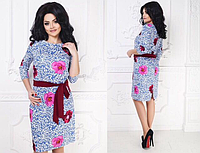 РАСПРОДАЖА!!! Коттоновое платье р-р 48-54 (в расцветках)