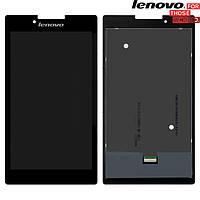 Дисплейный модуль (дисплей + сенсор) для Lenovo Tab 2 A7-30F, черный, оригинал