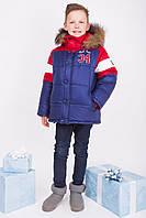 """Зимняя куртка для мальчика """"Бруклин"""" (красно-синяя)"""