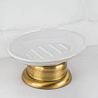 Мыльница настольная керамика ( Versace ), бронза V 027k