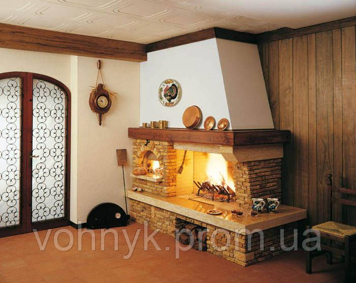 Каминная облицовка Palazzetti Valcomelico с духовкой (кантри)