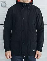 Весенне-осенняя куртка (парка) Staff - Minimal black Art. SME0011 (чёрный)