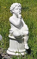 Статуя Ангел на колоне просящий тишины 63 см, фото 1