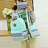 Школьный рюкзак с орнаментом 3 в 1, фото 6