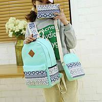 Школьный рюкзак с орнаментом 3 в 1