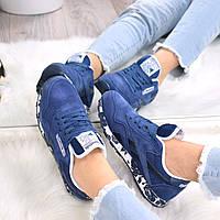 Кроссовки женские Reebok Classic синий 3522, спортивная обувь