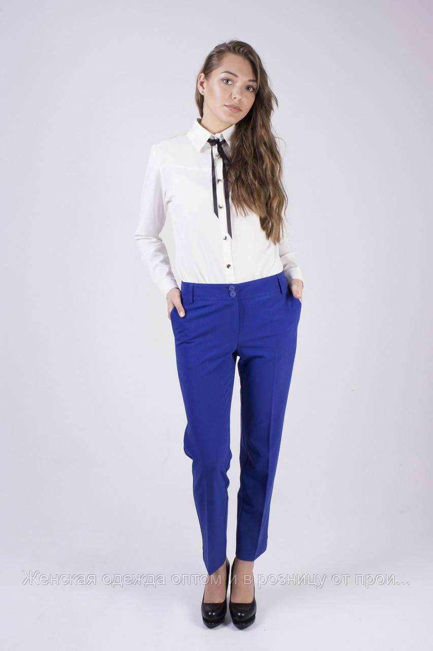 d6b985e11024 Классические молодежные брюки ЯРКО-СИНИЕ