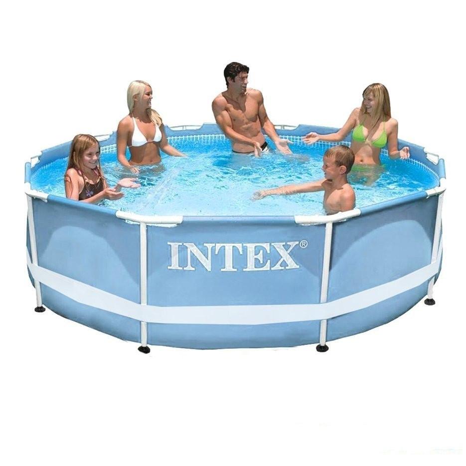 Каркасный бассейн Intex Сборный Prism Frame 305x76 см Басейн круглый