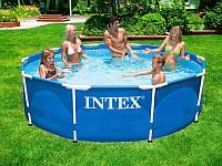 Каркасный круглый бассейн METAL FRAME POOL Intex 28202