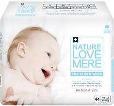 Подгузники NatureLoveMere, ультратонкие, размер M (6-9кг), 44шт