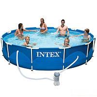 Каркасный бассейн басейн Intex 28212. Сборный Metal Frame 366 x 76 см