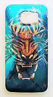 Чехол на Самсунг Galaxy S6 G920F приятный Силикон Глянцевый Тигр, фото 1