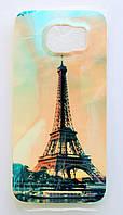 Чехол на Самсунг Galaxy S6 G920F приятный Силикон Глянцевый Эйфелева Башня, фото 1
