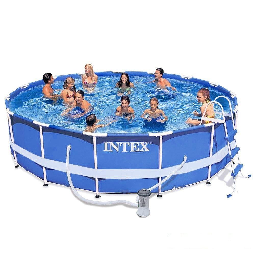 Каркасный бассейн басейн Intex 28236. Сборный Metal Frame 457 x 122 см Басейн круглый