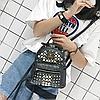 Стильный мини рюкзак с шипами, фото 3