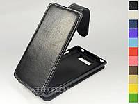 Откидной чехол из натуральной кожи для LG P705 Optimus L7