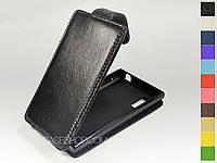 Откидной чехол из натуральной кожи для LG e612 Optimus L5