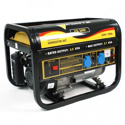 Генератор бензиновый Forte FG3500 (2,7кВт), фото 2